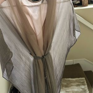 Bcbg max flying squirrel sleeve striped dress